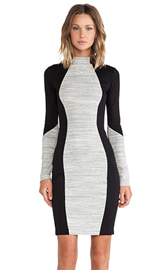 sen Muriel Dress in Heather Grey Stripe & Black