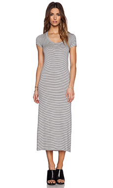 sen Chance Dress in Navy Stripe