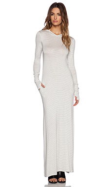 sen Romina Maxi Dress in Heather Grey Stripe