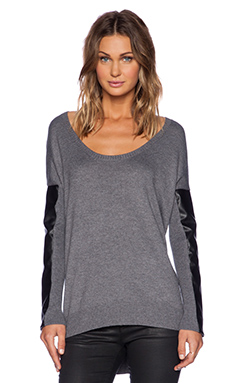 sen Sydney Sweater in Charcoal & Black