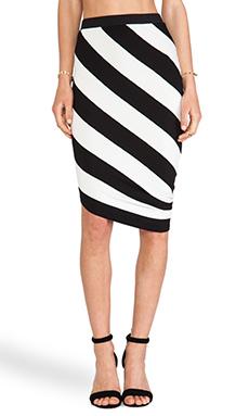 sen Jax Skirt in Black & White Stripe