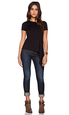 sen Giada Asymmetrical Tee in Black