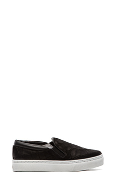 SENSO Ava IV Slip-On Sneaker in Black Matte Crocodile