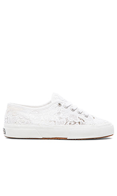 Superga Lace Sneakers in White