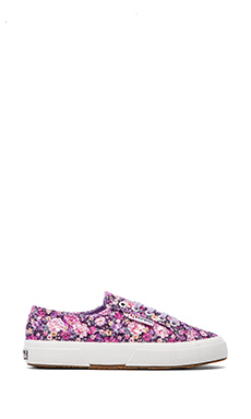 Superga Sneakers in Flower Multi & Violet