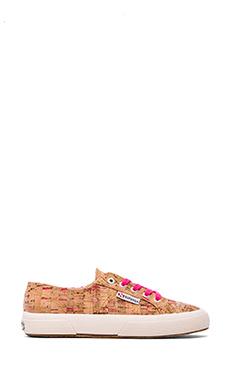 Superga Neon Cork Sneakers in Neon Pink