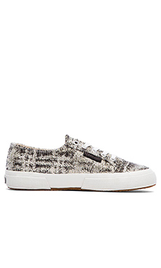 The Man Repeller x Superga Metallic Sneaker in Black