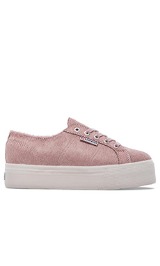 Superga Calf Hair Sneaker in Pink