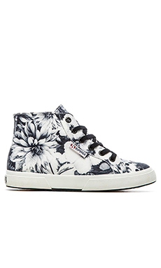 Superga Annabella Hi-Top Sneaker in Black & White