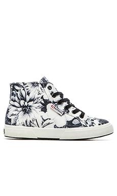 Superga Annabella Hi-Top Sneaker en Noir & Blanc