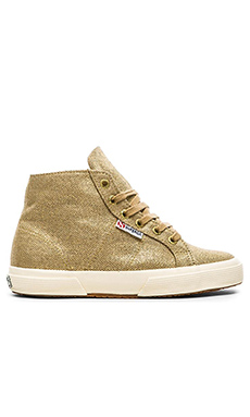Superga Hi-Top Sneaker in Gold