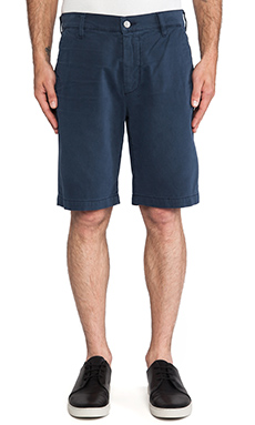 7 For All Mankind Twill Chino Short in Midnight Navy