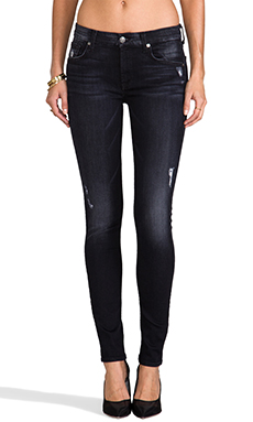 7 For All Mankind The Skinny in Grey/Black Destroy