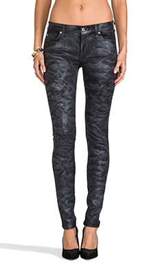 7 For All Mankind The Skinny in Black Crinkle