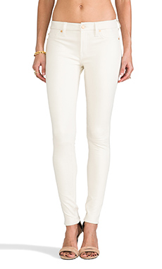 7 For All Mankind Knee Seam Coated Skinny in Antique White