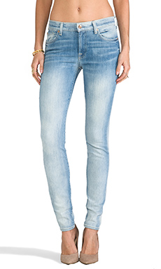 7 For All Mankind The Skinny in Sun Bleached Destroy