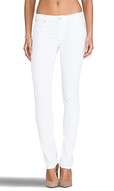 7 For All Mankind Modern Straight in Clean White