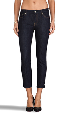 7 For All Mankind Kimmie Crop in Ink Rinse
