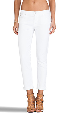 7 For All Mankind Josefina w/ Rolled Hem in Clean White