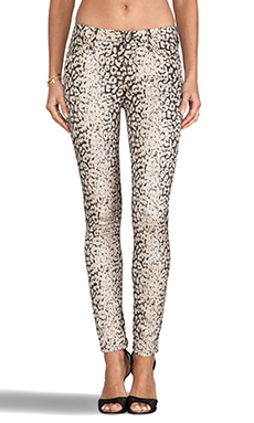 7 For All Mankind Highwaist Ankle Skinny in Mixed Leopard