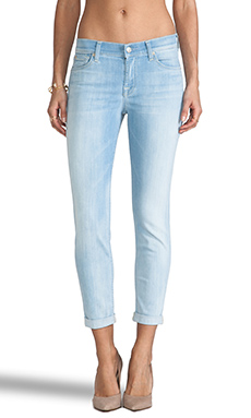 7 For All Mankind Skinny Crop in Slim Illusion Powder Blue