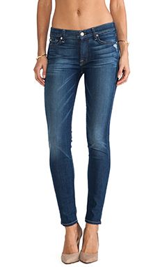 7 For All Mankind Skinny w/ Squiggle in Authentic True Blue