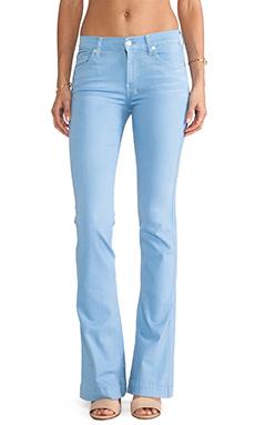 7 For All Mankind Slim Trouser in Light Weight Blue Denim