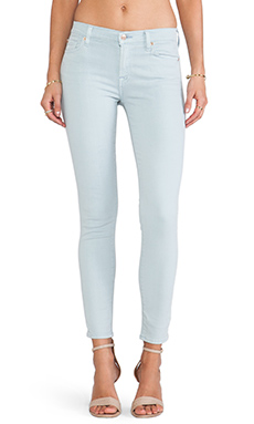 7 For All Mankind The Ankle Skinny in Slate Blue Sandwash