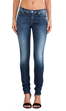 7 For All Mankind The Skinny in Aggressive Heritage Blue