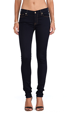 7 For All Mankind The Skinny with Contour in Slim Illusion 2nd Skin Midnight rinse