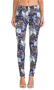 7 For All Mankind The HW Skinny with Contour in Duchess Garden Print