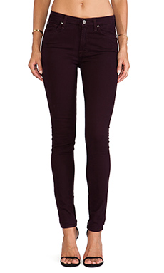 7 For All Mankind The Midrise Skinny with Contour in Eggplant
