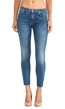 7 For All Mankind Ankle Skinny with Raw Hem in Destroyed Rue De Lille 2