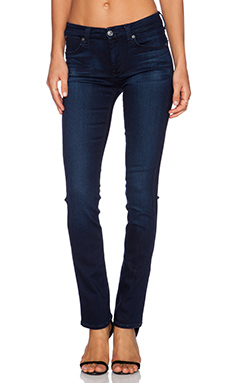 7 For All Mankind The Modern Contour Straight Leg in Pristine Blue Black