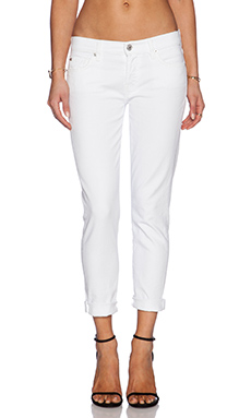7 For All Mankind Josephina Boyfriend in Clean White