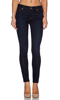 7 For All Mankind Midrise Skinny in Classic Dark