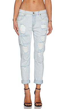 7 For All Mankind Relaxed Skinny in Patched