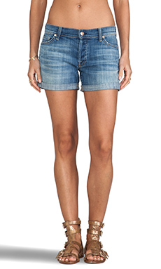 7 For All Mankind Boyfriend Short in Bright Light Broken Twill