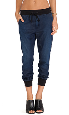 7 For All Mankind Indigo Jogger in Dark Indigo