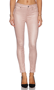 7 For All Mankind Knee Seem Skinny in Dusty Pink