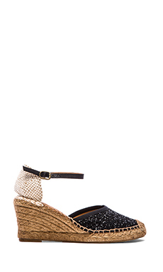 Seychelles Truth Be Told Wedge in Black Glitter
