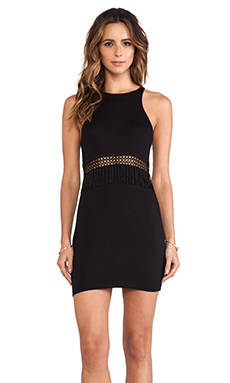 Stone Fox Swim Gatsby Mini Dress in Onyx