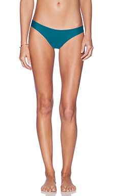 Stone Fox Swim Hudson Bikini Bottom in Jade