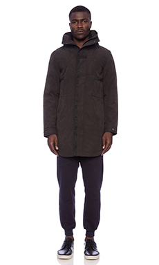 Shades of Grey by Micah Cohen Hooded Parka in Black
