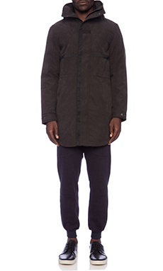 Shades of Grey by Micah Cohen Hooded Parka en Noir