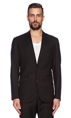 Shades of Grey by Micah Cohen 2 Button Blazer in Black