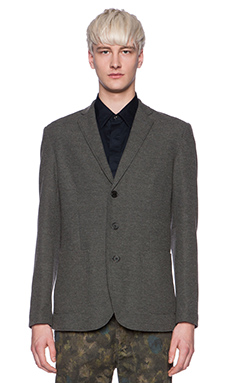 Shades of Grey by Micah Cohen Knit Blazer in Marled Graphite