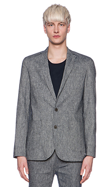 Shades of Grey by Micah Cohen Sport Coat in Indigo Chambray