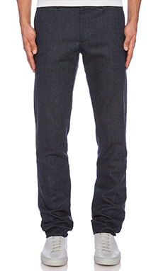 Shades of Grey by Micah Cohen Slim Fit Suit Pant in Dark Blue Tweed