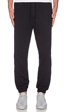 Shades of Grey by Micah Cohen Geometric Quilted Jogger in Black